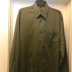 Green Long Sleeve Button Down Shirt (made in Italy